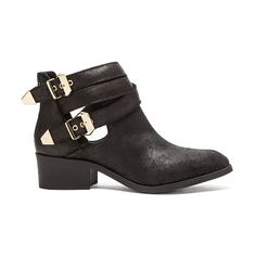 Seychelles Scoundrel Bootie Shoes (175 AUD) ❤ liked on Polyvore featuring shoes, boots, ankle booties, booties, faux boots, seychelles bootie, seychelles, double buckle boots and back zip ankle boots