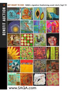 It's nearly time for the 2014 Auction! Acquire gorgeous art quilts starting September 15. #SAQA #artquilts