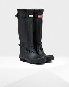 Hunter UK   Women's Original Tall Fringe Wellington Boots   Official Site