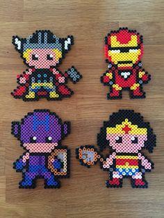 Thor, Ironman, Hawkeye, Wonder Woman - superheroes hama beads perler