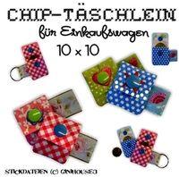 ♥ Täschchen für Einkaufschip ♥ IN THE HOOP - ginihouse3, EUR 8.00