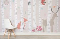 Kids Woodland Scene Wall Mural | Murals Wallpaper