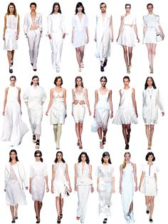"""NYFW Spring/Summer 2014 Trend: White Out  Only a few days into NYFW and it's apparent that the """"it"""" color for spring/summer is white, show..."""