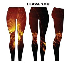 Nothing will say I Lava You this Christmas more than a pair of our Volcano Tights. Want to look super hot while feeling warm and cosy? These brushed  poly/spandex thermal leggings will meet all your winter dreams! Available from Pokosha Clothing. Click the photo now to purchase from our Etsy shop.