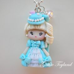 Kawaii Cuties Sweet Polymer Clay Pendant by GothicToyland on Etsy, Diy Fimo, Crea Fimo, Cute Polymer Clay, Cute Clay, Polymer Clay Dolls, Polymer Clay Miniatures, Polymer Clay Necklace, Polymer Clay Pendant, Polymer Clay Projects