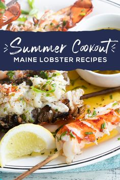 Maine Lobster elevates your summer cookout to the next level. Learn everything you need to know about cooking techniques, lobster products, and the best summer recipes that will earn you a place as barbecue royalty.  Lobster Dishes, Lobster Recipes, Fish Dishes, Fish Recipes, Seafood Recipes, Dinner Recipes, Cooking Recipes, Healthy Recipes, Seafood Dinner