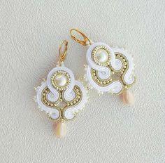 Bridal Earrings Soutache Earrings bridesmaid gift by AdityaDesign