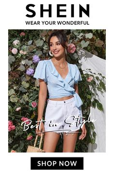 1,000+ new items launch every day ! Free returns on all orders! Say Hey to AfterPay. Buy now, pay later! Short Dresses, Summer Dresses, Nice Ideas, Spotlights, Wrap Blouse, Girly Girl, Poppy, Gifs, Cute Outfits