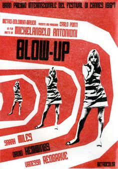 (Londres) Blow-up a film by Michelangelo Antonioni with Vanessa Redgrave, David Hemmings and Sarah Miles