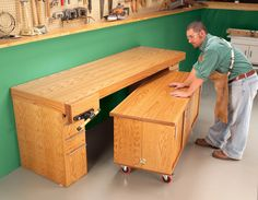 AW Extra - Torsion-Box Workbench and Expandable Assembly Table - Popular Woodworking Magazine