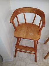 antique wooden childs high chair high chairs foot rest and makers
