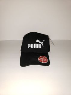f7393f67c57 Puma Black White Evercat  1 Relaxed Fit Metal Adjustable Curved Bill Cap Hat