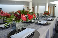 Romantic rose centerpieces make for the perfect winter wedding reception in the Art Center's restaurant. Winter Wedding Receptions, Rental Space, Rose Centerpieces, Romantic Roses, Fundraising Events, Restaurant, Table Decorations, Weddings, Art