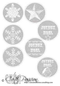 Fiche étiquettes rondes Joyeux Noel