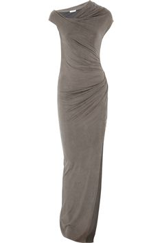 Torrent Brushed Jersey Maxi Dress by Helmut Lang