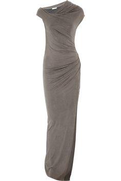 Torrent Brushed Jersey Maxi Dress by Helmut Lang: Minimalist urban elegance. #Dress #Helmut_Lang