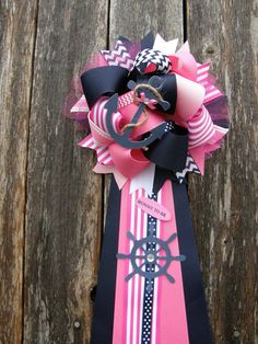 pink nautical baby shower mu by bonbow on Etsy, $19.99