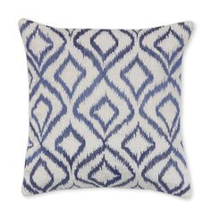 Diamond Ikat Embroidered Pillow Cover #williamssonoma