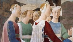 Piero della Francesca - Procession of the Queen of Sheba (detail) - - Category:Adoration of the Holy Wood and the Meeting of Solomon and the Queen of Sheba by Piero della Francesca - Wikimedia Commons Renaissance Kunst, Italian Renaissance, Good Knight, Italian Paintings, Italian Art, 15th Century, Art Reproductions, Middle Ages, Oil On Canvas