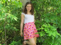 Cynthia Retro Classic Skirt by LighthousesAndLilac on Etsy