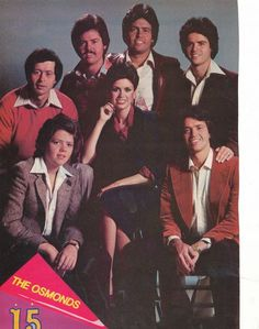 osmond brothers   THE OSMONDS OSMOND BROTHERS pinup – Older portrait with MARIE ...