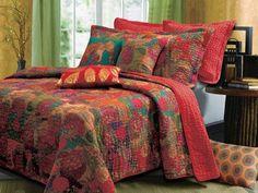 Jewel Fruit Bohemian Bonus Quilt Bedding Boho Bed Set Twin/Full/Queen/ – eRummagers