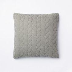 "Braided Quilt + Shams | west elm - Euro sham ""plaster"" - $34"