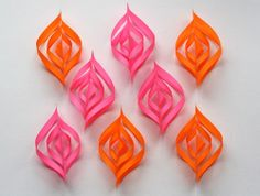 DIY paper Christmas ornaments | How About Orange