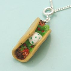 Taco necklace by inediblejewelry on Etsy, $24.00