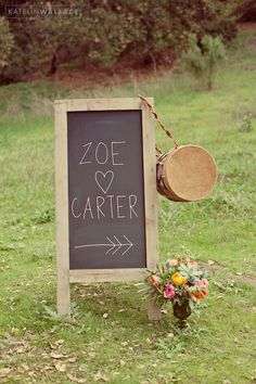 Vintage Wedding on a Budget // Use a chalkboard as a menu, welcome sign, or to give your guests special instructions