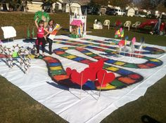 Life size candy land game board