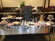 Winter ONEderland food table