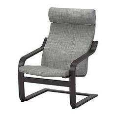 POÄNG Chair - Isunda gray, black-brown - IKEA Time to upgrade my chair cushion!