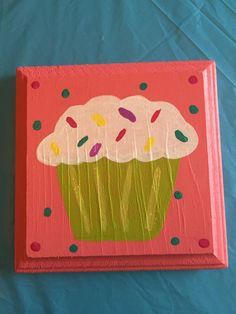 Hand Painted Cupcake Sign by jenuinecraftsandmore on Etsy