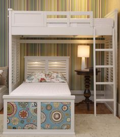 Home Sweet Home: These Are the Biggest Home Décor Trends of 2019 . Teen Room Decor, Teen Bedroom, Triple Bunk Beds, Bunk Bed With Desk, Girl Bedroom Designs, Small Space Living, Dream Rooms, Kid Beds, Home Decor Trends