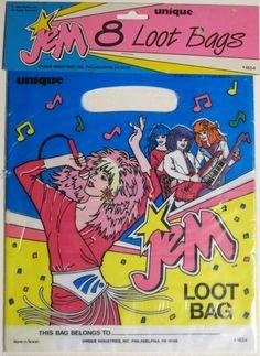 birthday party goodie bags!  I remember Jem! memories...