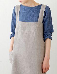 fog linen - square cross apron