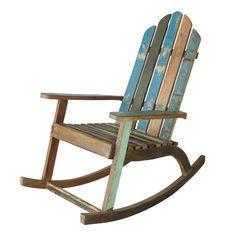 Sedia a dondolo in legno riciclato | Maisons du Monde
