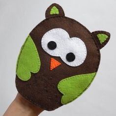 Owl puppet  - puppets for children, children toy, puppet theatre  - by KinkinPuppets on Etsy