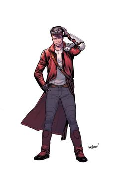 Star-Lord by David Marquez and colored by Matt Wilson
