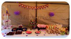 Rapuzel mesa de dulces y postres