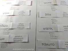 Η λέξη που αλλάζει! Άσκηση Φωνημικής & Οπτικής διάκρισης στη Δυσλεξία Teaching Methods, Dyslexia, Special Education, Literature, Projects To Try, Teacher, Reading, Greek, Kids