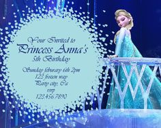 Frozen Birthday Party Invitations Is To Sum Up Your Outstanding Ideas Of Do It Yourself Adorable Party Invitations 18 - 1421 Disney Frozen Party, 5th Birthday Party Ideas, Frozen Birthday Party, Frozen Birthday Invitations, Party Invitations Kids, Birthday Invitation Templates, Elsa, Frozen Cards, Card Ideas