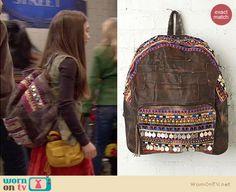 Riley's embellished backpack on Girl Meets World.  Outfit Details: http://wornontv.net/34222/ #GirlMeetsWorld