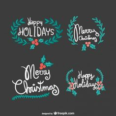 Vintage Merry Christmas Images | Vintage merry Christmas lettering Vector | Free Download