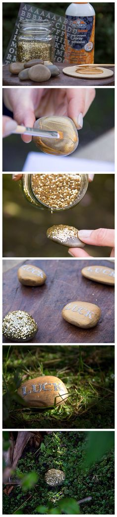 DIY St. Patricks Day Scavenger Hunt! by Moonfrye.com: Create your own lucky gold and hide them in your backyard for a fun St. Patricks Day game!