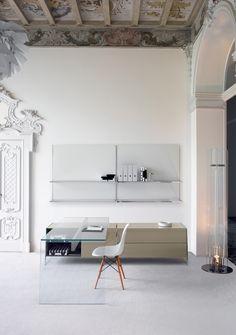 "The beautiful transparent ""Air Desk Hall"" by Gallotti&Radice / http://yatzer.tumblr.com/post/78021474762"