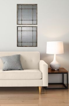 Cream colored sofa