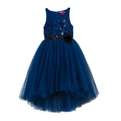Hi-Low skirt pattern. Satin sash belt tie-up for easy wearing & better fit. Button opening at the back. Cotton lining at the bodice for skin comfort. Girls Formal Dresses, Girls Party Dress, Flower Girl Dresses, Hi Low Skirts, Stunning Girls, Satin Sash, Kids Boutique, Special Occasion Dresses, Pageant
