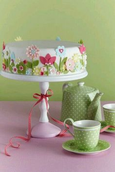 Baking day in Spring with Pink and Green